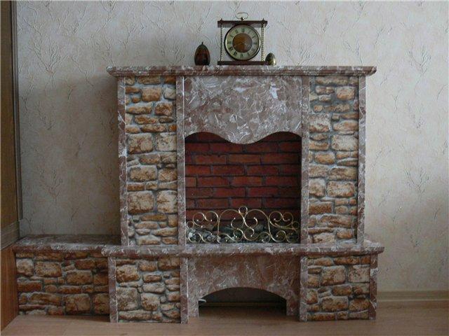 Декоративный камин из гипсокартона своими руками с